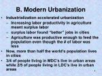 b modern urbanization