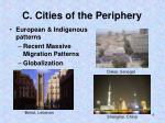 c cities of the periphery