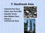f southeast asia