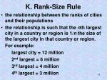 k rank size rule