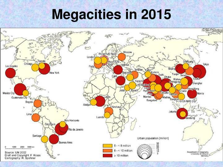 Megacities in 2015