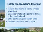 catch the reader s interest