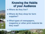 knowing the habits of your audience