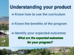 understanding your product