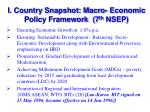 i country snapshot macro economic policy framework 7 th nsep