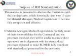 purpose of mm standardization