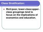 class stratification