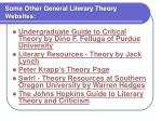 some other general literary theory websites