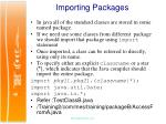 importing packages