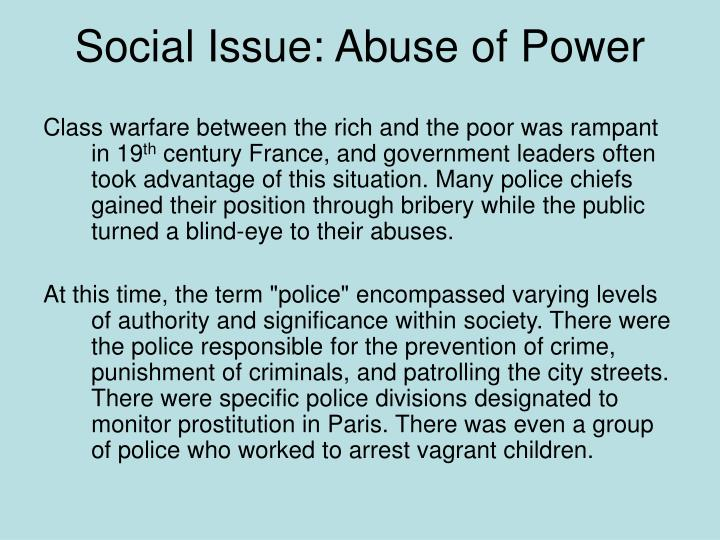 Social Issue: Abuse of Power