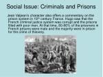social issue criminals and prisons