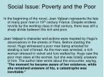 social issue poverty and the poor