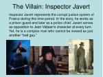 the villain inspector javert