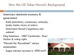 how the us takes hawaii background