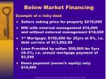 below market financing