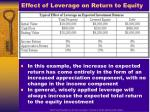 effect of leverage on return to equity