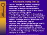 financial leverage risks