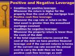 positive and negative leverage