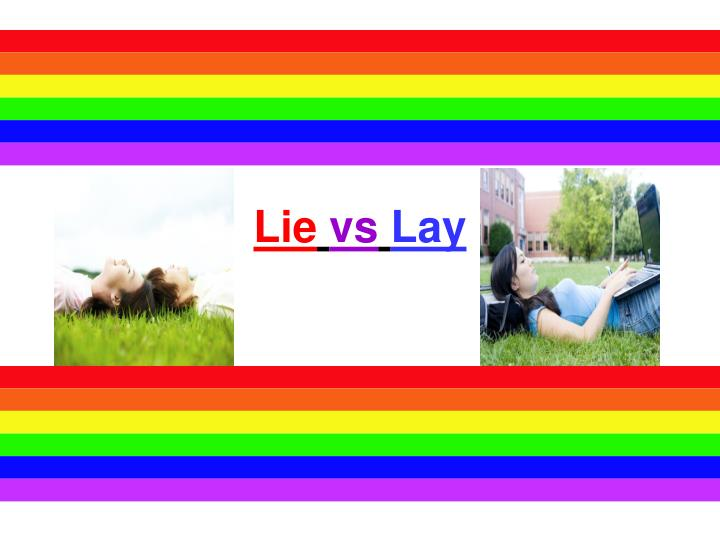 lie vs lay n.