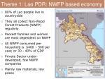 theme 1 lao pdr nwfp based economy