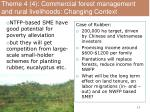 theme 4 4 commercial forest management and rural livelihoods changing context