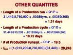 other quantites