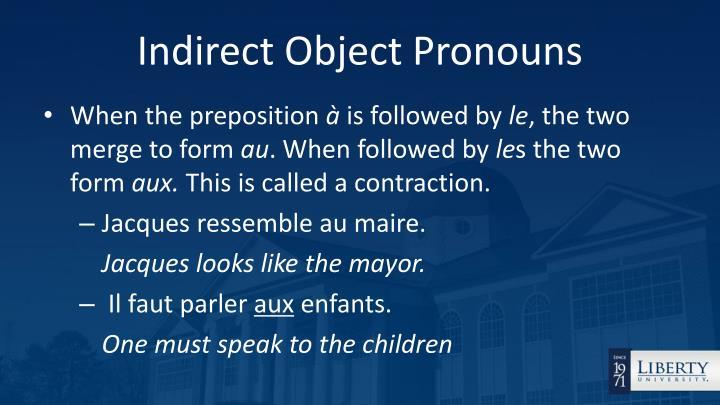 Indirect object pronouns1