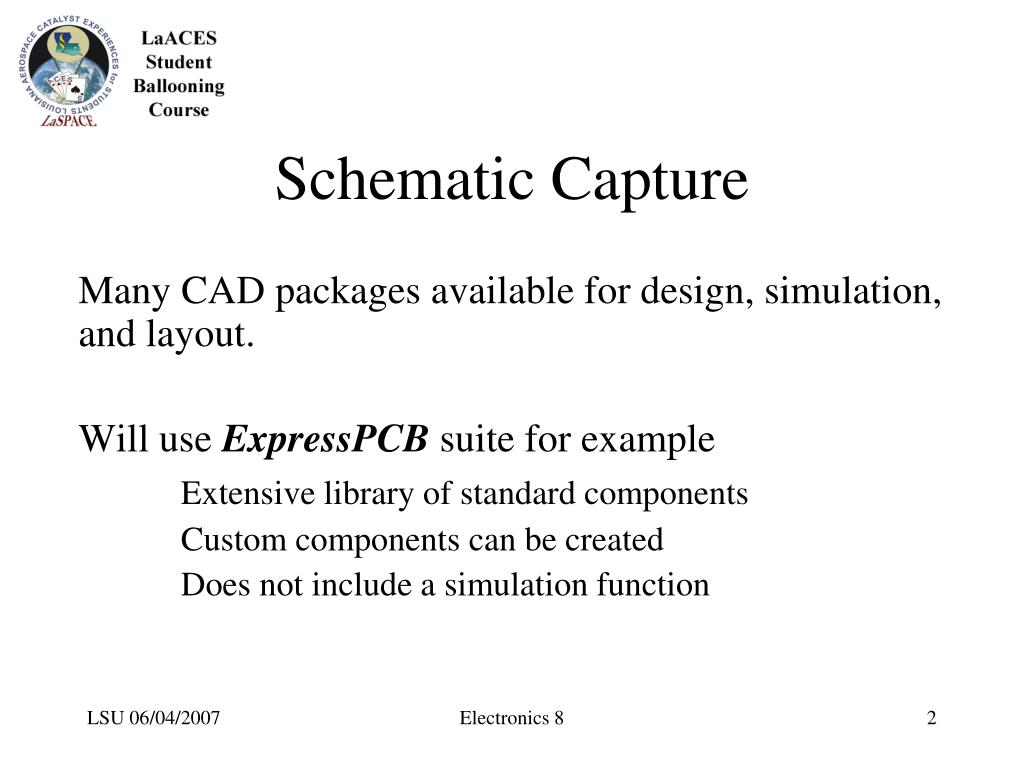 PPT - CAD Tools for Circuit Design Electronics Unit