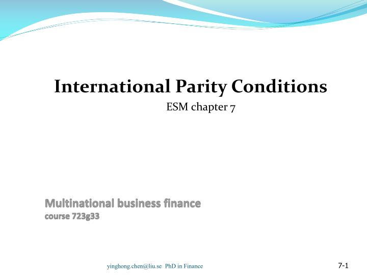 multinational business finance course 723g33 n.