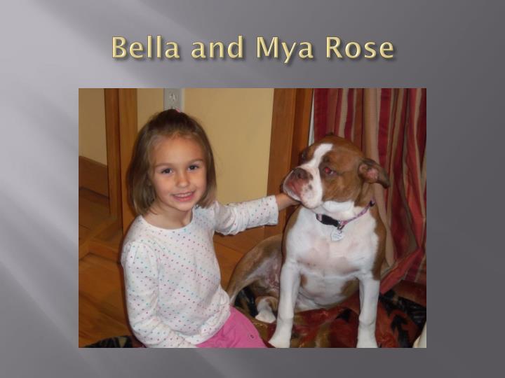 Bella and mya rose