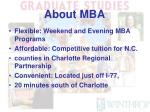 about mba