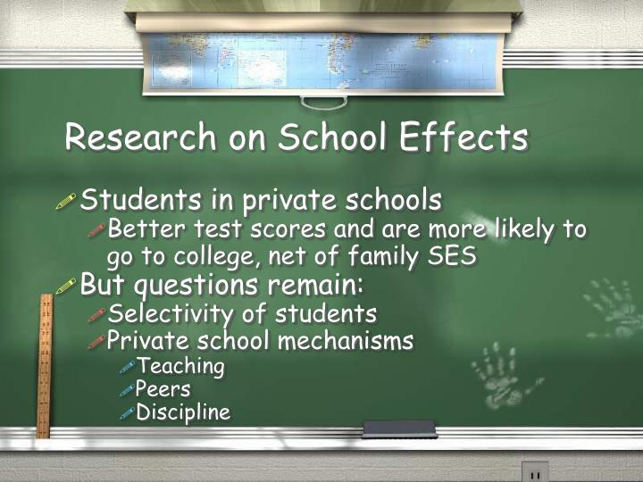 Research on School Effects