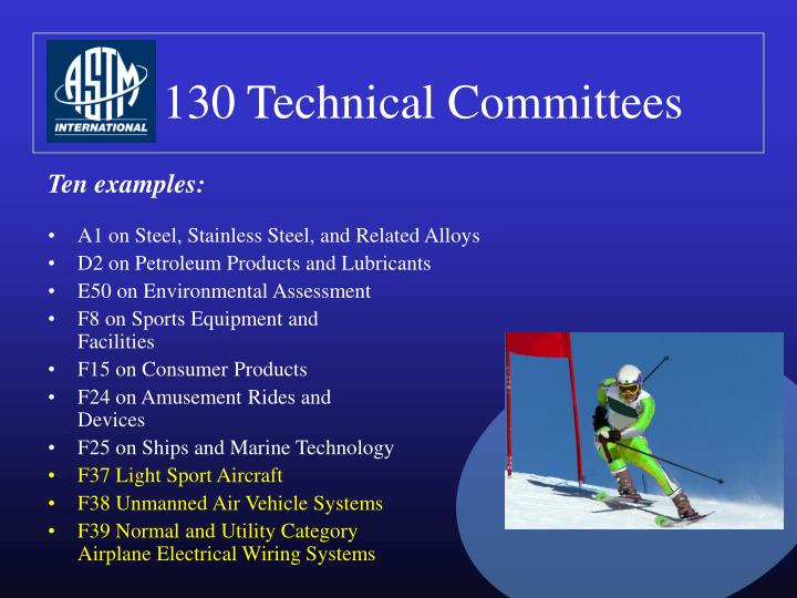 130 Technical Committees