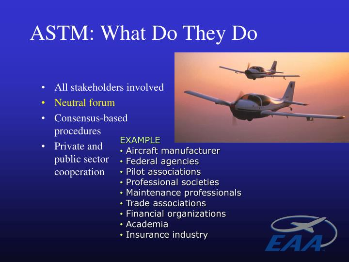 ASTM: What Do They Do