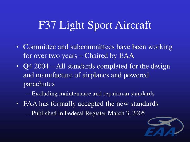 F37 Light Sport Aircraft