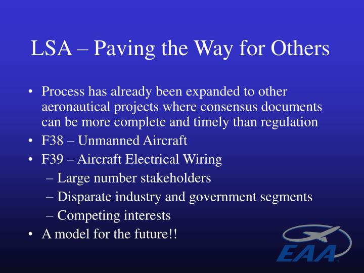 LSA – Paving the Way for Others