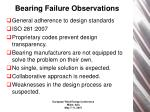 bearing failure observations