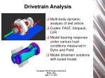 drivetrain analysis