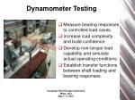 dynamometer testing