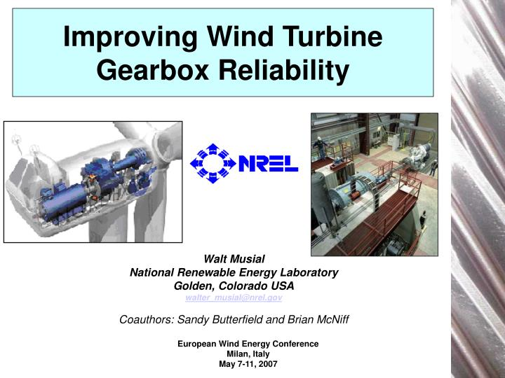 improving wind turbine gearbox reliability n.