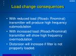 load change consequences
