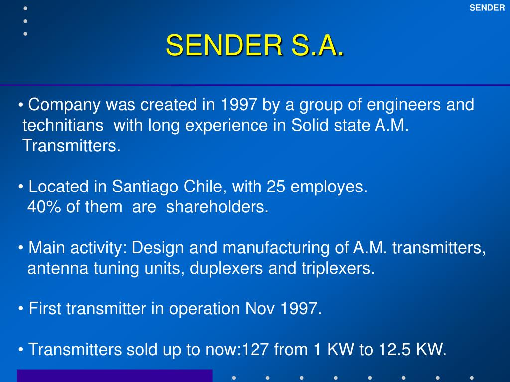 PPT - SENDER A M  Transmitters PowerPoint Presentation - ID