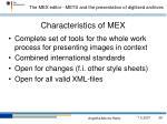 characteristics of mex
