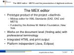 the mex editor