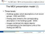 the mex presentation model 1