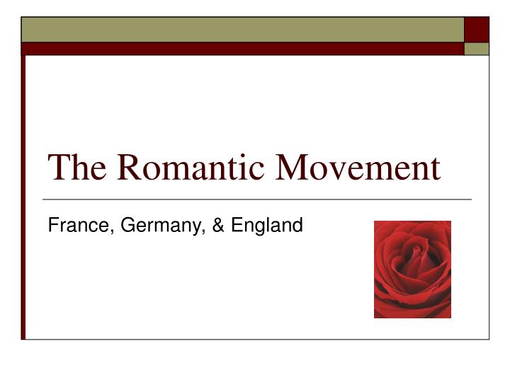 the romantic movement n.