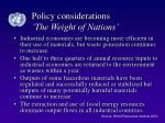 policy considerations the weight of nations