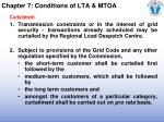 chapter 7 conditions of lta mtoa