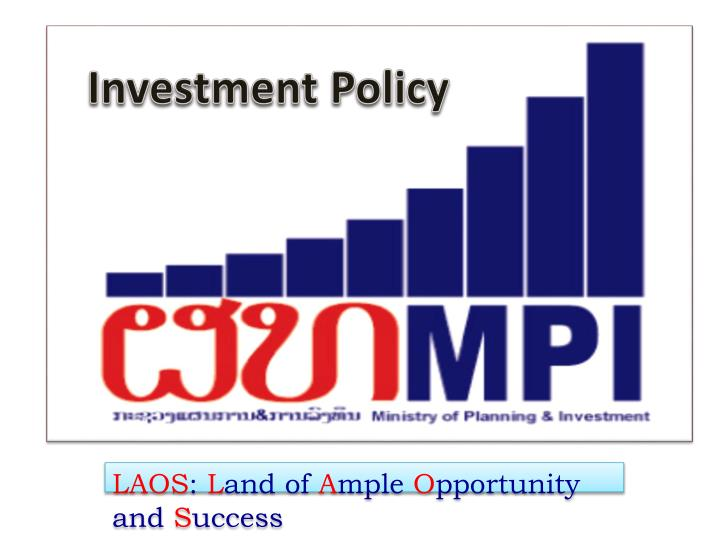 investment policy n.