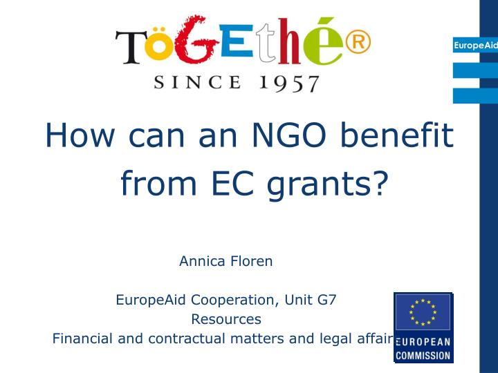 How can an ngo benefit from ec grants